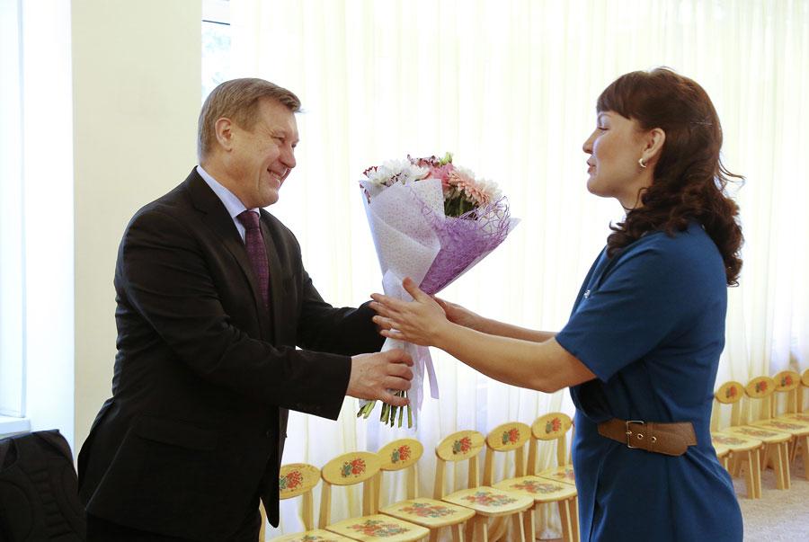 Анатолий Локоть и Елена Жаркова