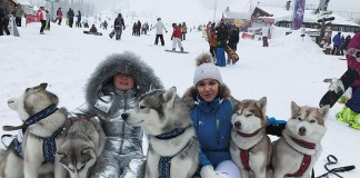 Светлана Манина (слева) в Шерегеше