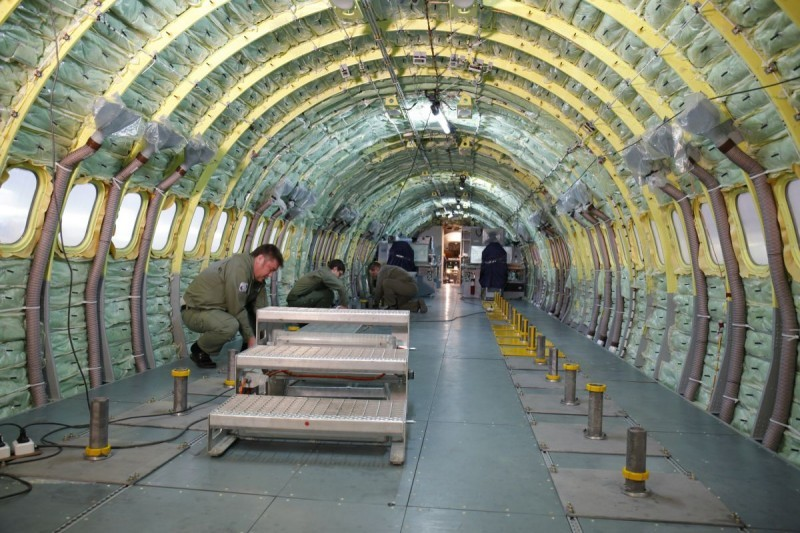 Пассажирский салон самолета МС-21