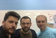 Леонид Волков, Сергей Бойко, Егор Савин (слева направо). Фото с личной страницы Сергея Бойко в facebook.com