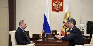 Владимир Путин и Алексей Цыденов