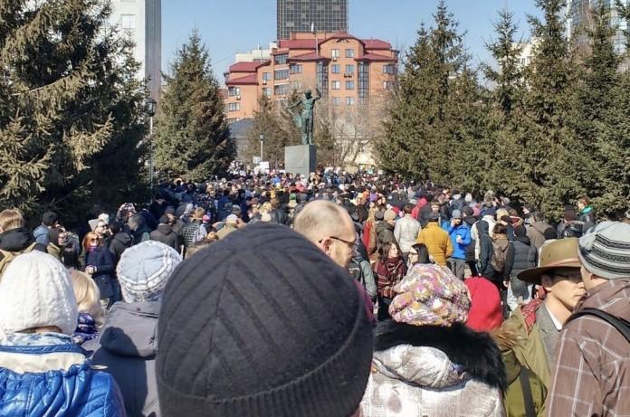 Митинг Навального в Новосибирске