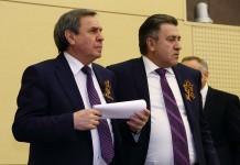 Губернатор Владимир Городецкий и спикер заксобрания Андрей Шимкив (слева направо)