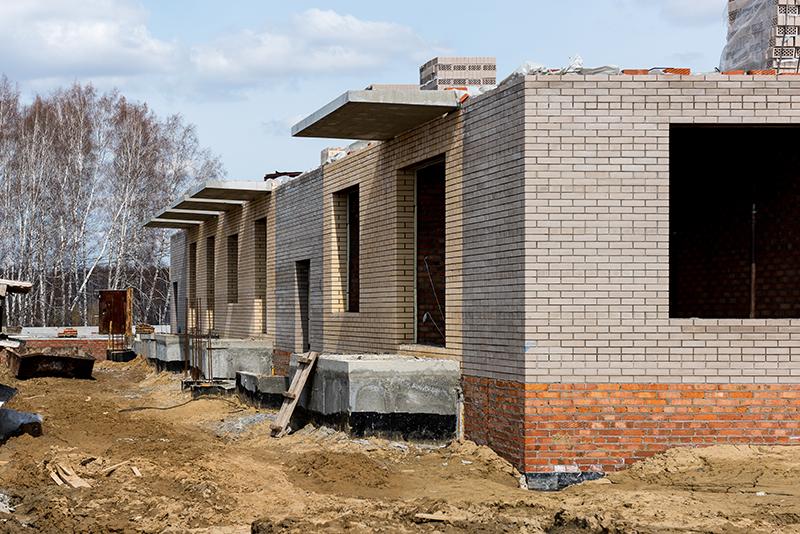 Строящийся жилой комплекс «Спектр» в наукограде Кольцово