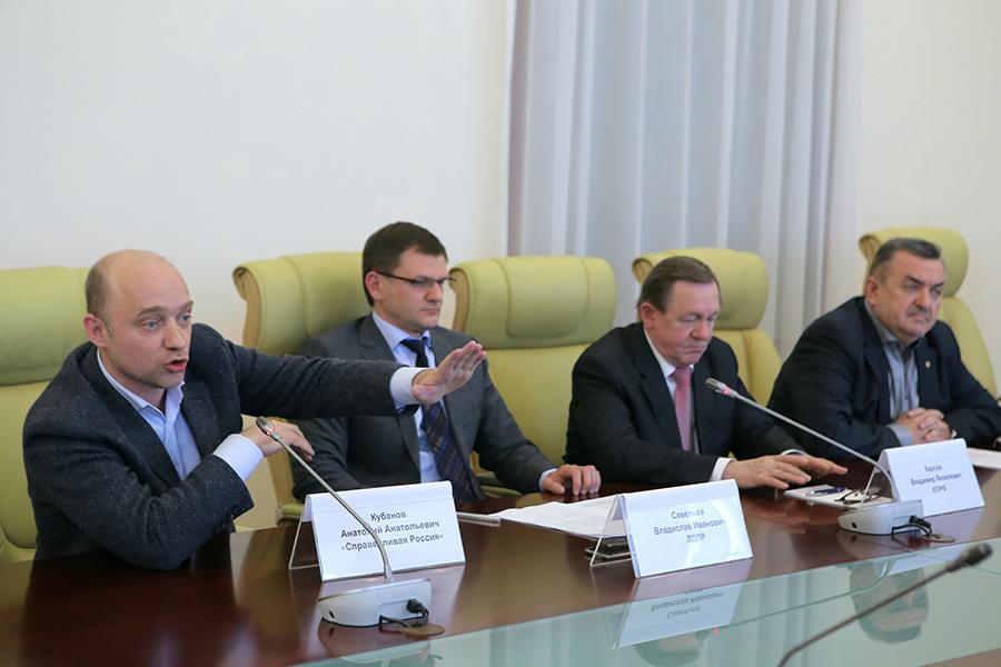представители руководства СР, ЛДПР, КПРФ и ЕР в Новосибирской области
