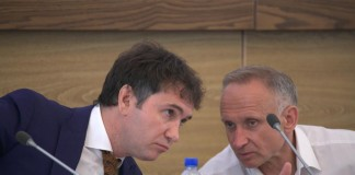 Спикер совета депутатов Новосибирска Дмитрий Асанцев и первый вице-спикер заксобрания Новосибирской области Андрей Панферов