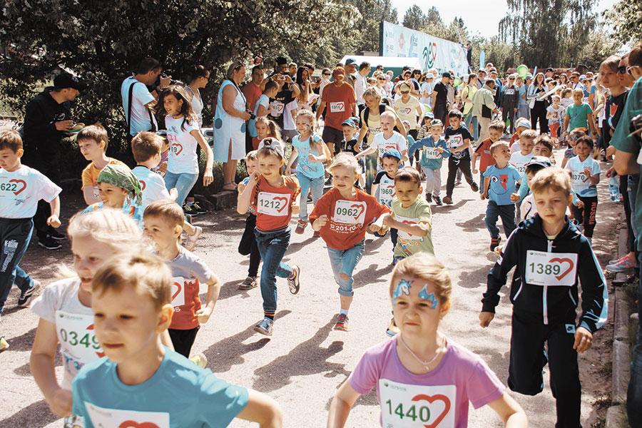 Детский забег в рамках «Зеленого марафона»