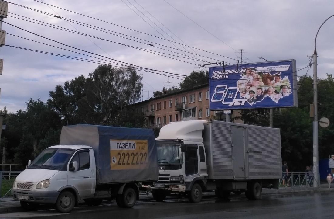 Баннеры к 80-летию Новосибирской области