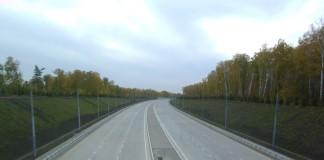 Часть Юго-Западного подхода Новосибирска уже выполнена в асфальтобетоне. Фото Александра Колпакова.