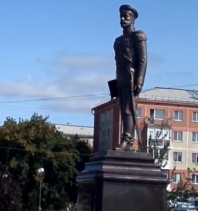 Памятник Николаю II в Ленинске-Кузнецком