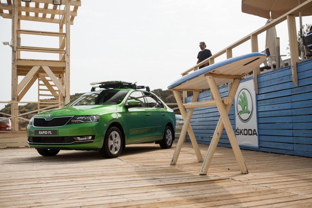 Тест-драйв Skoda Rapid. Фото Skoda