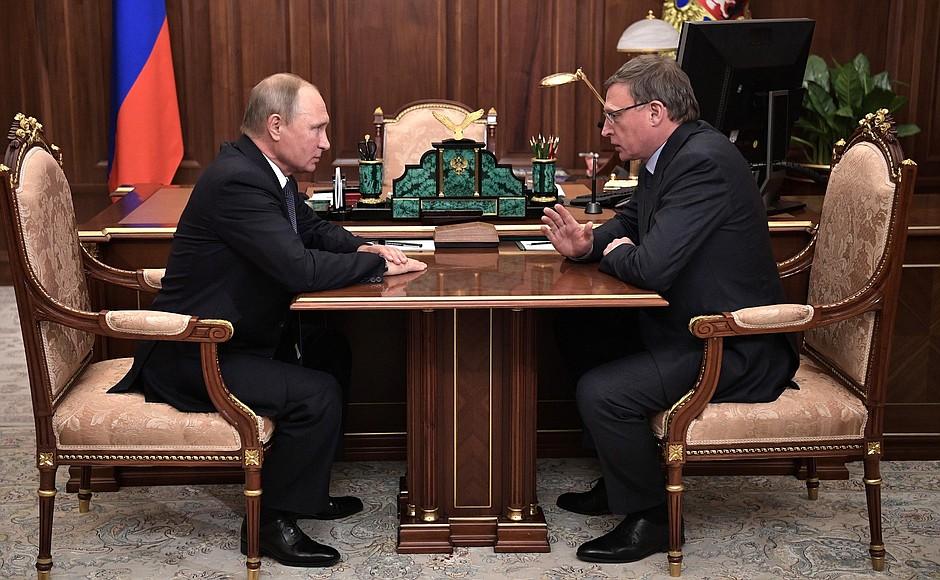 Владимир Путин встретился с Александром Бурковым