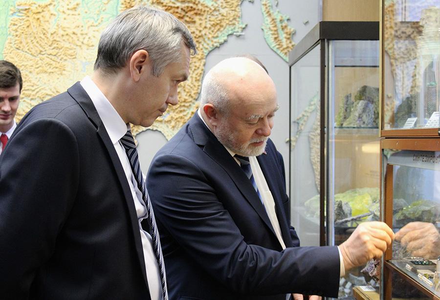 Андрей Травников и академик Николай Похиленко