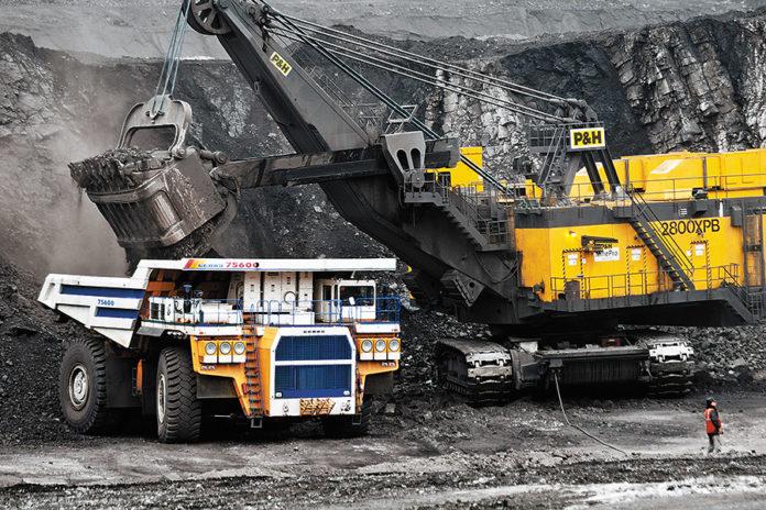 Миниатюра для: По итогам 2017 года добыча угля в Кузбассе превысила 240 млн тонн