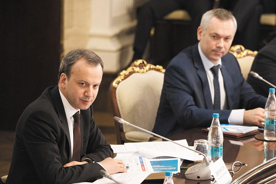Аркадий Дворкович и Андрей Травников