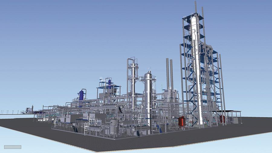 BIM-модель технологического комплекса