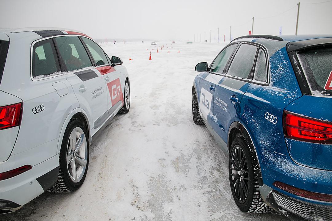Экстремальный тест-драйв автомобилей Audi «Территория Quattro»