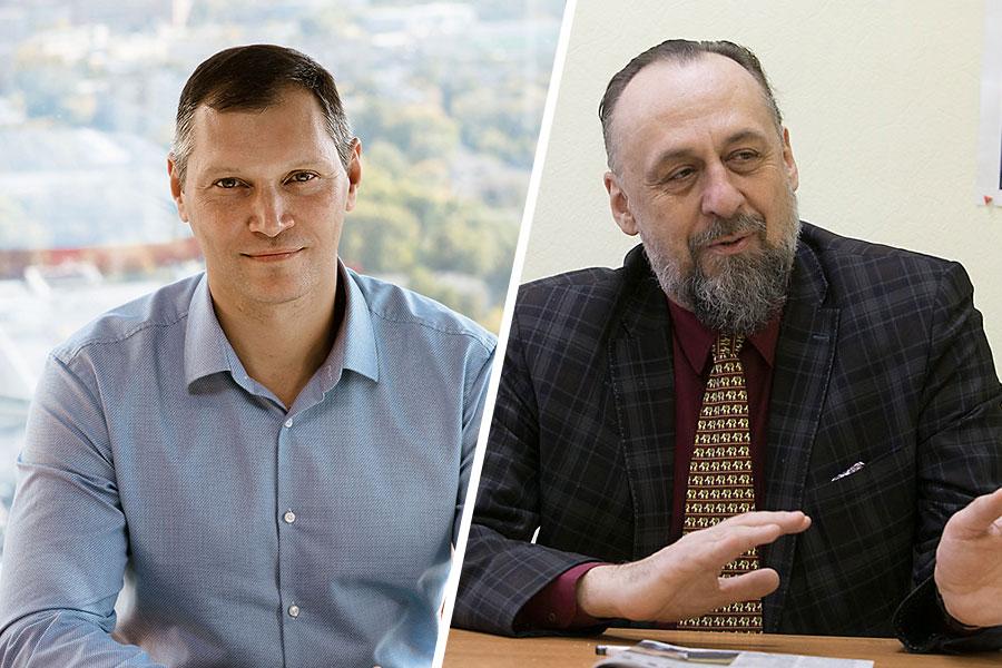 Советник мэра Новосибирска АЛЕКСАНДР ЛОЖКИН и депутат совета депутатов Новосибирска МИХАИЛ АНСИМОВ