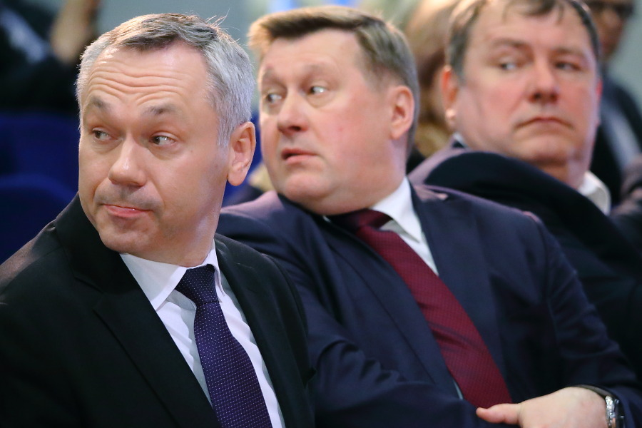 Андрей Травников и Анатолий Локоть