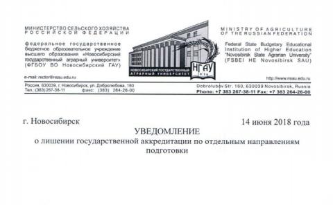 Миниатюра для: Один из новосибирских вузов не аккредитован по четырем программам