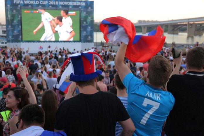 Миниатюра для: Для просмотра матчей ЧМ по футболу с участием российской сборной могут перекрыть площадь Ленина в Новосибирске