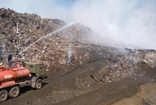 Миниатюра для: После пожара на мусорном полигоне в Новосибирске в отношении его оператора организована проверка