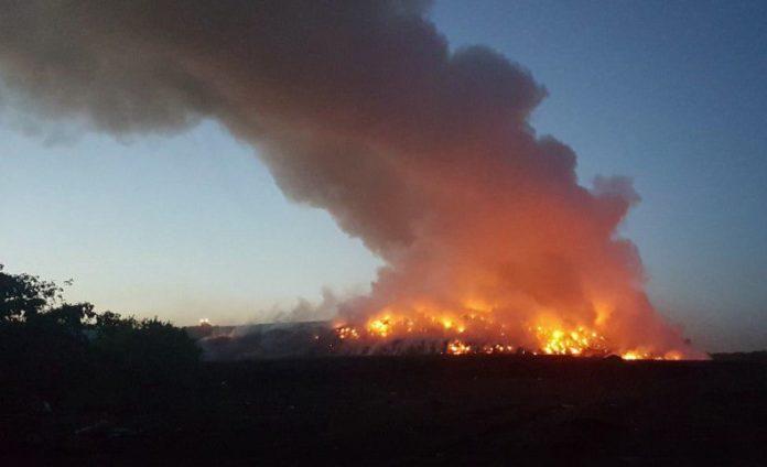 Миниатюра для: Пожар на мусорном полигоне мэр Новосибирска назвал умышленным поджогом