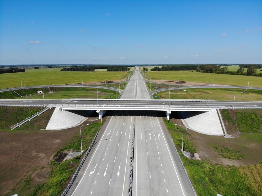 Под Новосибирском открыт новый участок федеральной трассы - Изображение