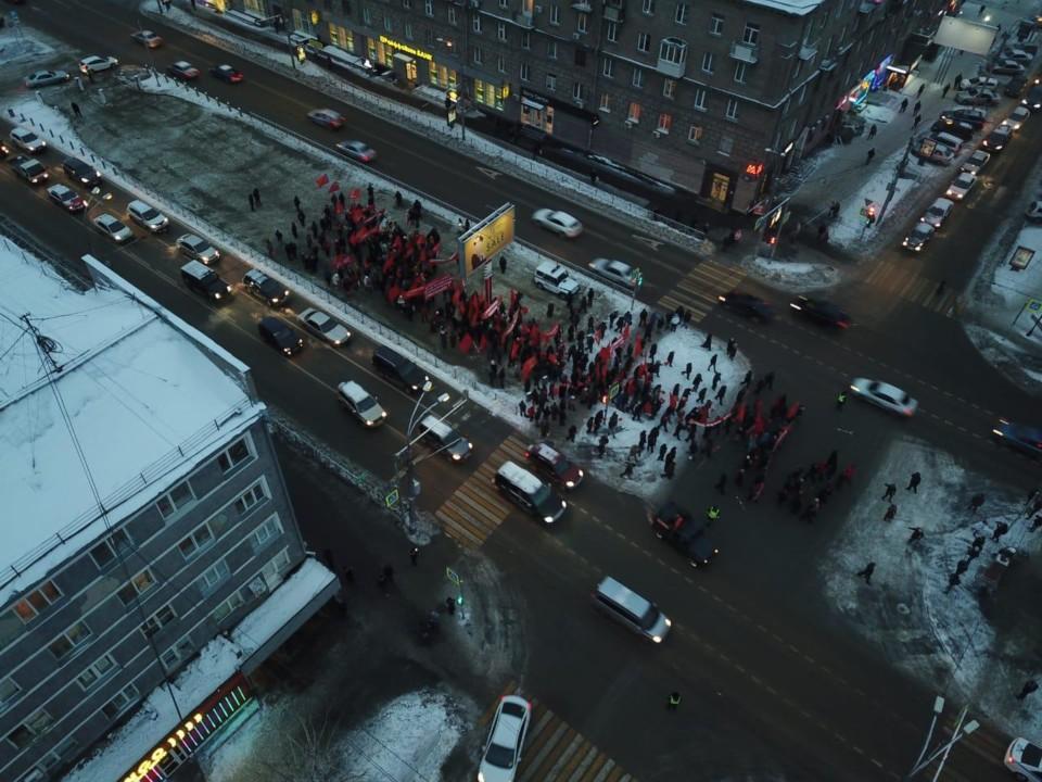 Новосибирские коммунисты отметили 101-ю годовщину Октябрьской революции - Фотография