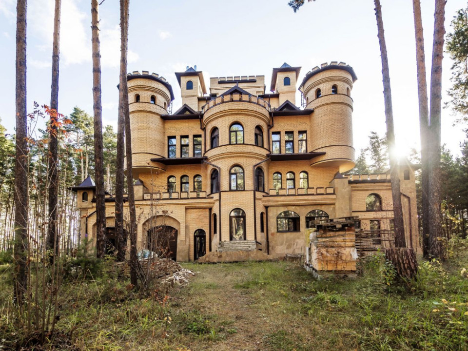 Замок с башнями и гаражом на 10 машин выставлен на продажу в Новосибирске