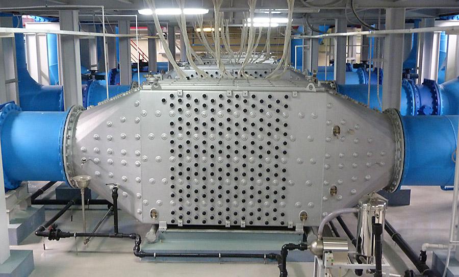 Блок УФО на НФС-1 производительностью 350 тысяч кубометров в сутки
