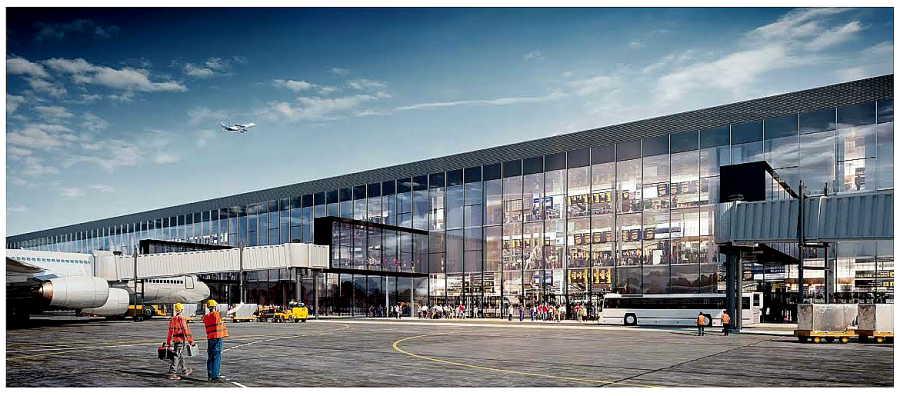 Выбрана архитектурная концепция фасадов нового терминала Толмачево