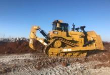 Топкинский цементный завод пополнил парк техники высокопроизводительным бульдозером