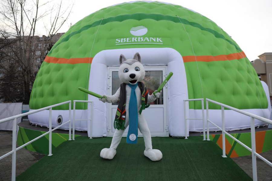 Шатер Сбербанка на Универсиаде в Красноярске посетило более 16 тыс человек