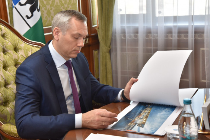 Андрей Травников призвал сделать облик нового аэровокзала Толмачево запоминающимся