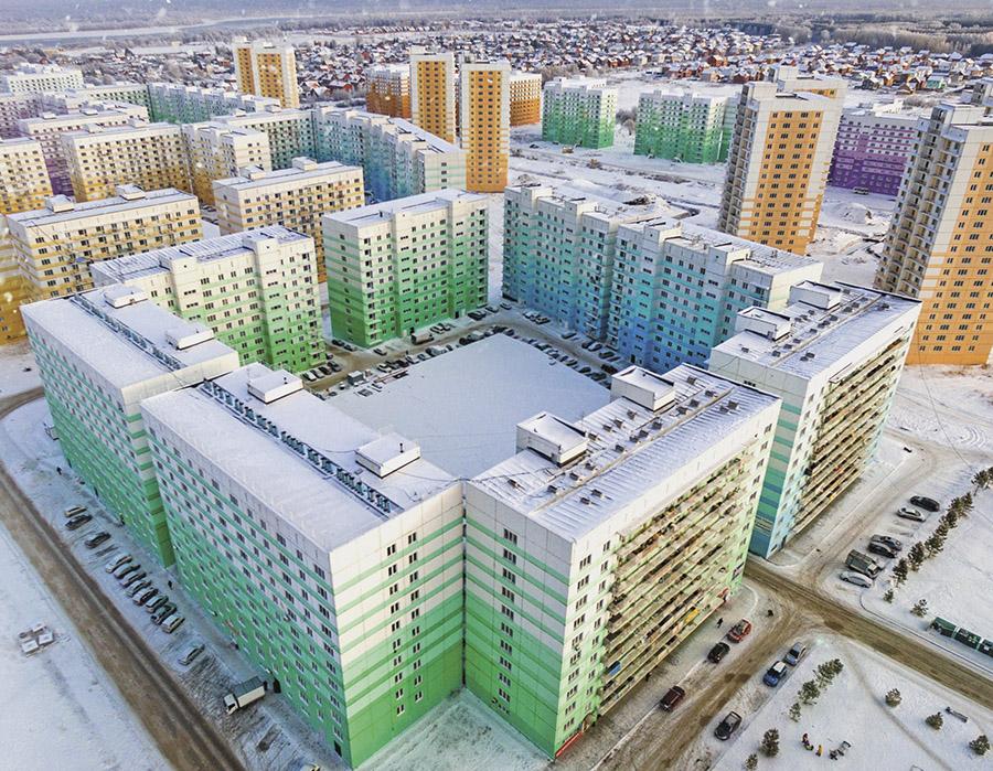 Дома микрорайона «Просторный» в Новосибирске введены в эксплуатацию