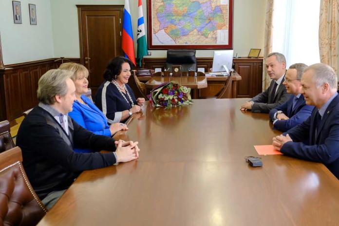 Андрей Травников и Надежда Бабкина договорились сотрудничать в сфере культуры и искусства