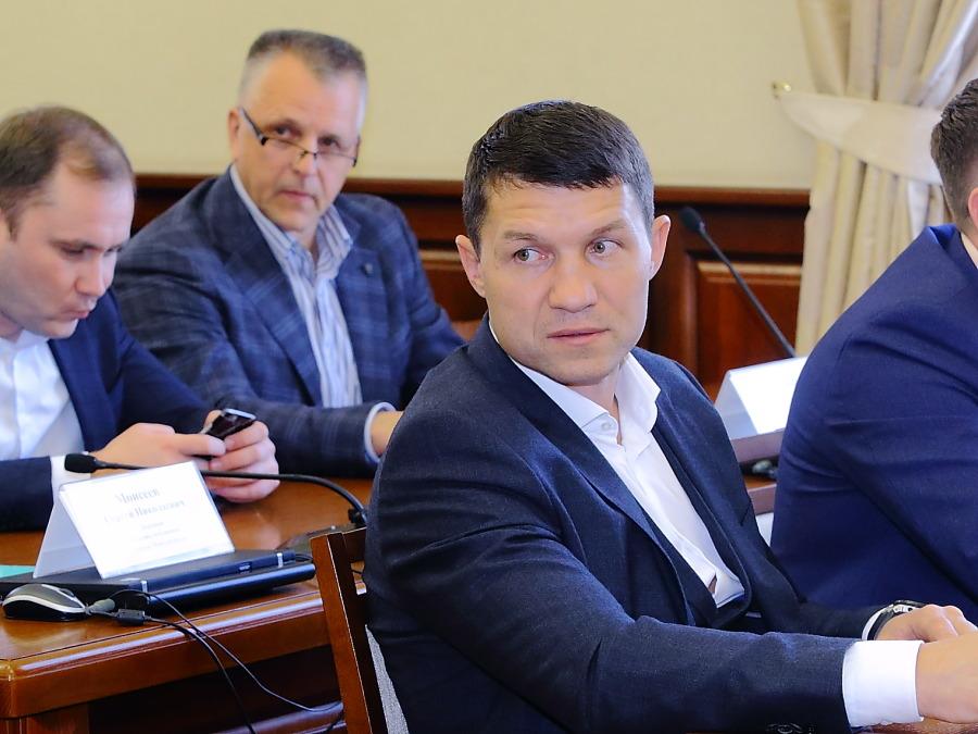 Сергей Трубников (на переднем плане)