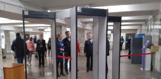 Новосибирский метрополитен оснастил станцию «Площадь Ленина» новыми металлодетекторами
