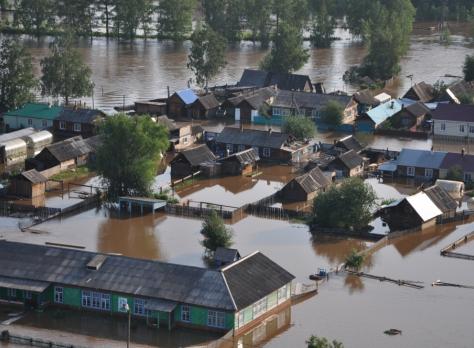 В районе затопленных территорий Иркутской области развернуто 11 пунктов временного пребывания