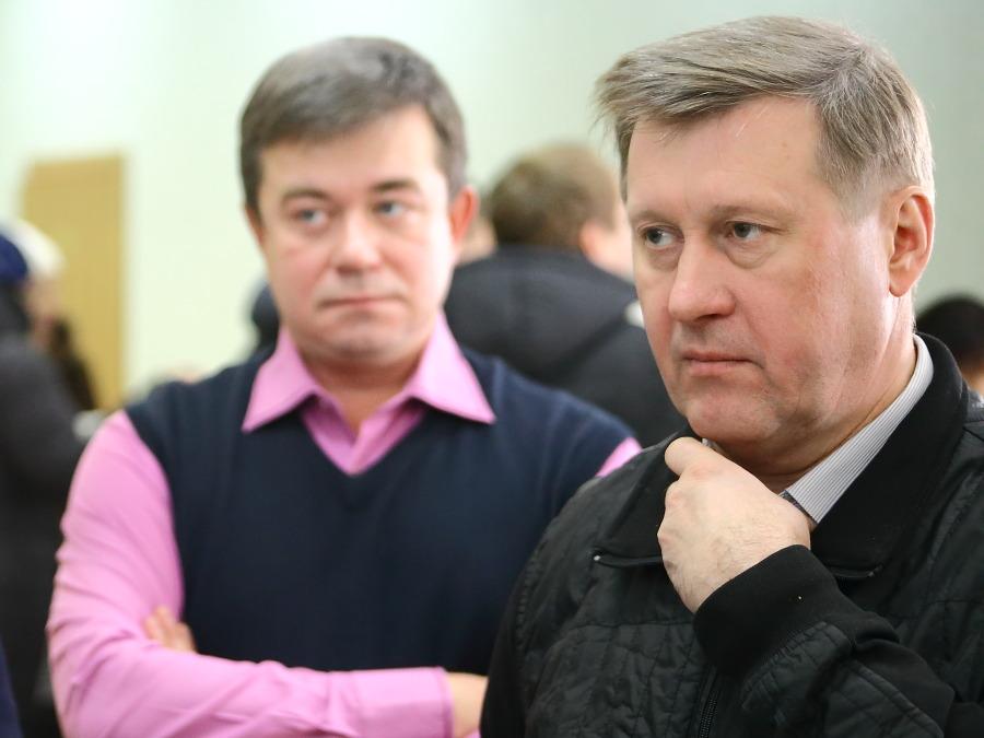 Анатолий Локоть (справа) и Андрей Жирнов