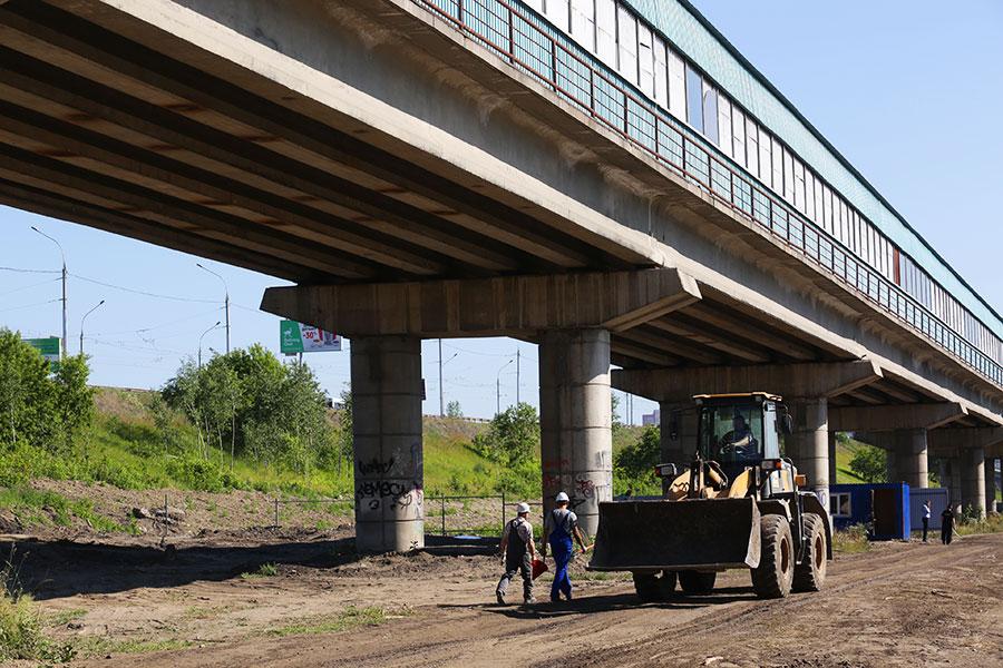 Строительство станции метро «Спортивная»