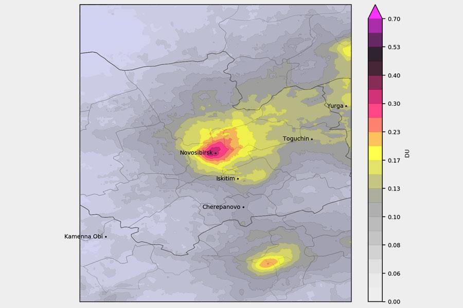Новосибирск оказался лидером среди городов СФО по уровню загрязнения воздуха диоксидом азота