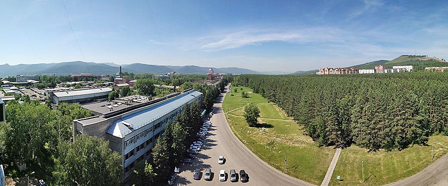 Вид на красноярский Академгородок