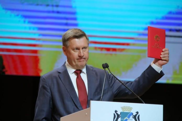 Миниатюра для: В Новосибирске состоялась церемония вступления в должность мэра города Анатолия Локтя