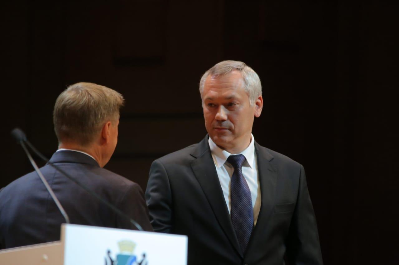 В Новосибирске состоялась церемония вступления в должность мэра города Анатолия Локтя - Фотография