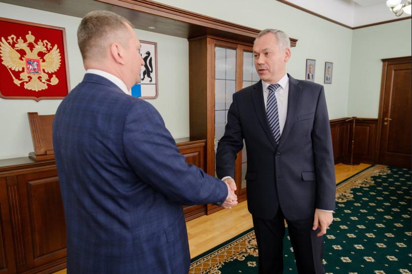 Андрей Травников поприветствовал нового начальника главного управления минюста по Новосибирской области