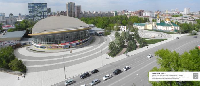 Миниатюра для: В опросе по благоустройству Нарымского сквера приняло участие 5,5 тысяч новосибирцев