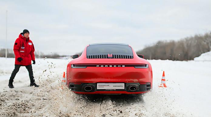 На новосибирском ипподроме прошло мероприятие Porsche Expierence