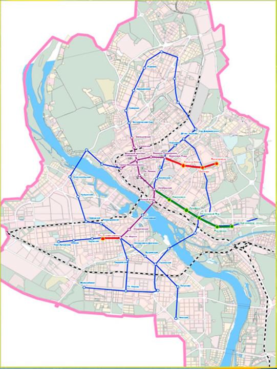 Схема развития метрополитена